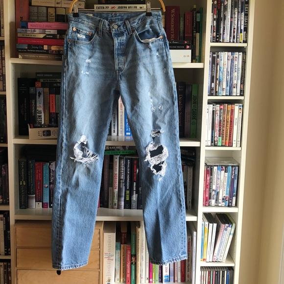 100% Cotton Levi's 501 Distressed Jeans